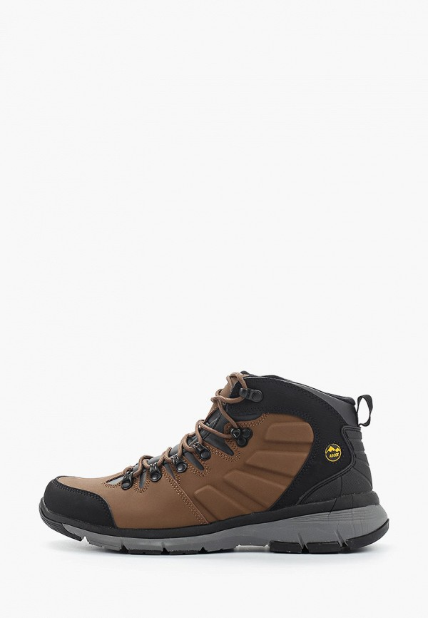 мужские высокие ботинки ascot, коричневые