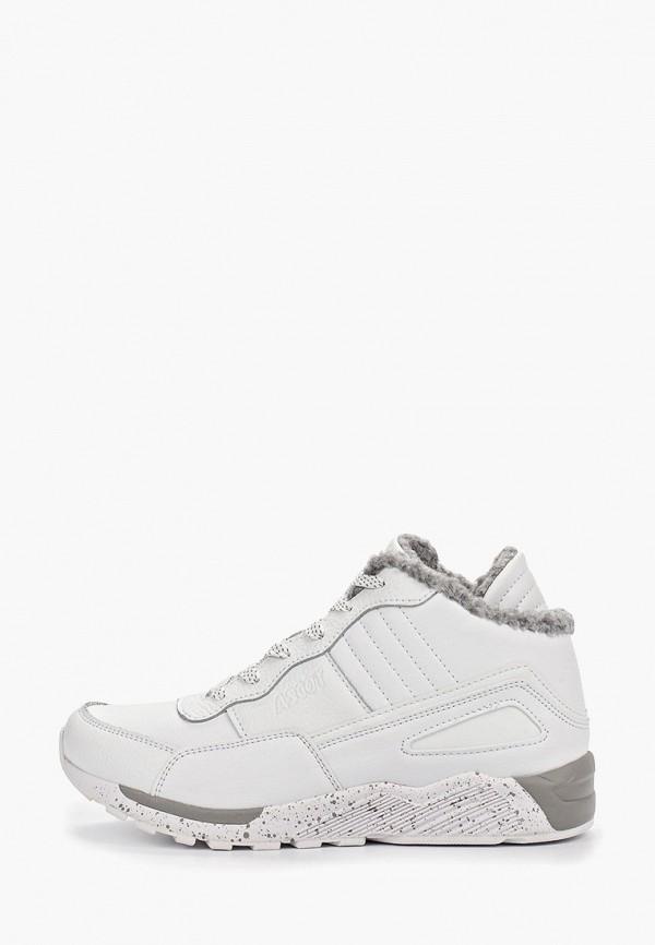женские кроссовки ascot, белые