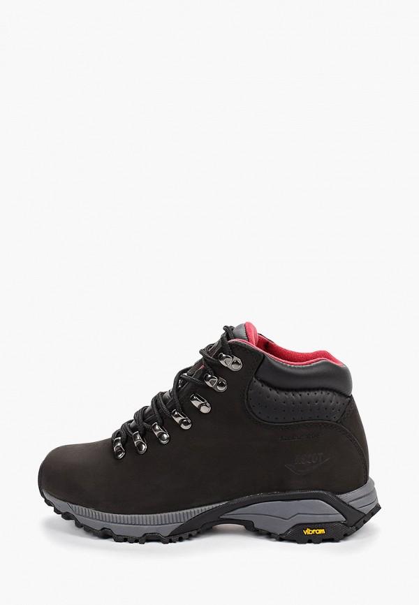 женские ботинки ascot, черные