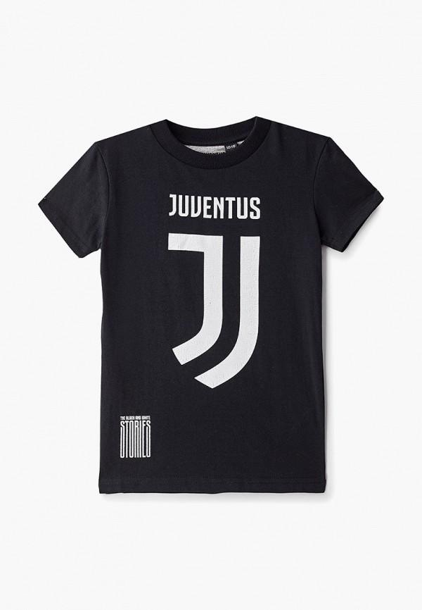 футболка atributika & club для мальчика, черная