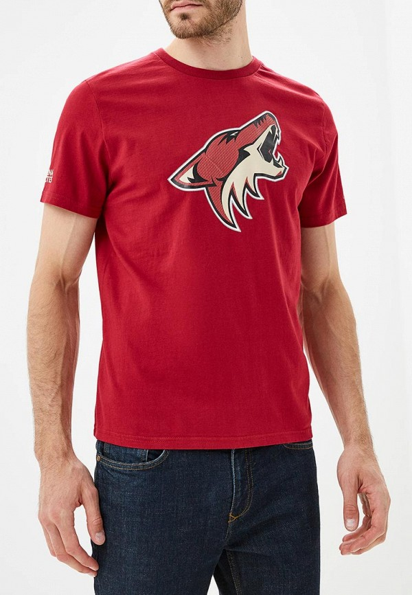 мужская футболка с коротким рукавом atributika & club, бордовая