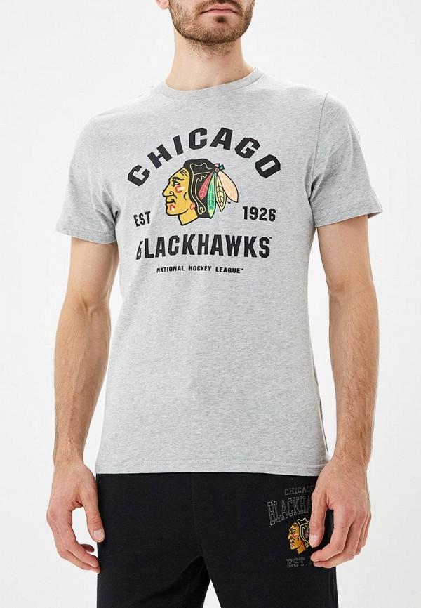 мужская футболка с коротким рукавом atributika & club, серая
