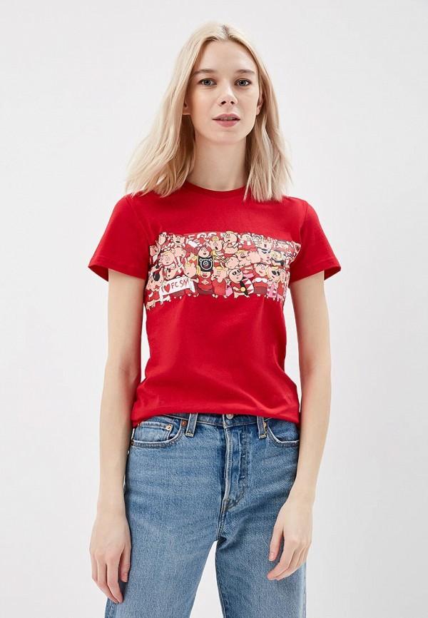 женская спортивные футболка atributika & club, красная