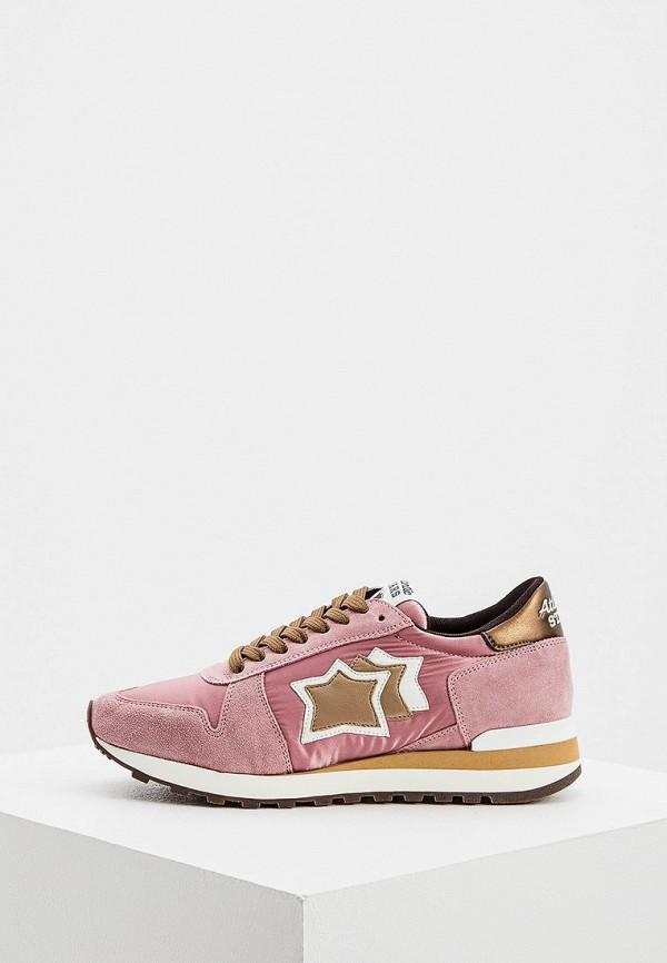 женские низкие кроссовки atlantic stars, розовые