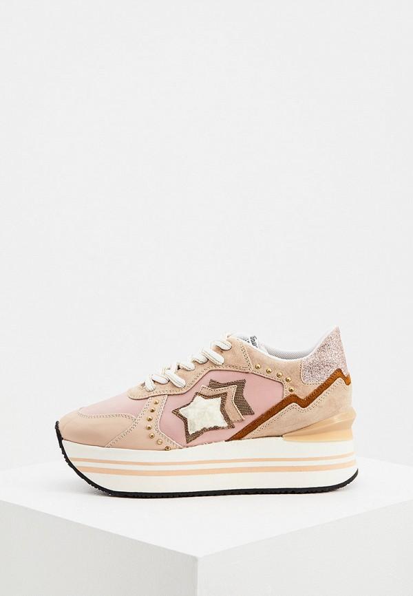 женские кроссовки atlantic stars, розовые