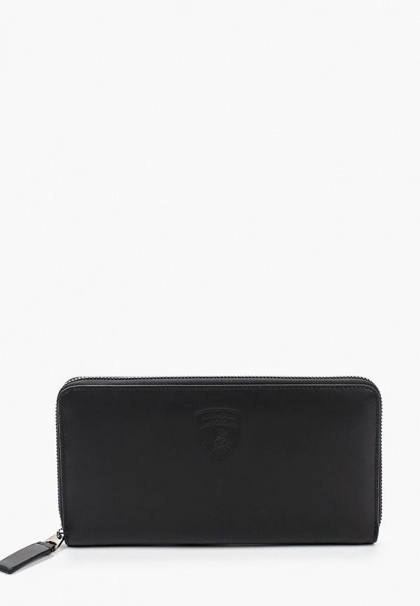 мужской кошелёк automobili lamborghini, черный