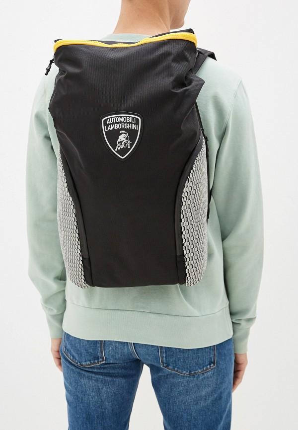 Фото 7 - Мужской рюкзак Automobili Lamborghini черного цвета