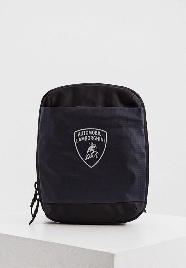 мужская сумка automobili lamborghini, черная