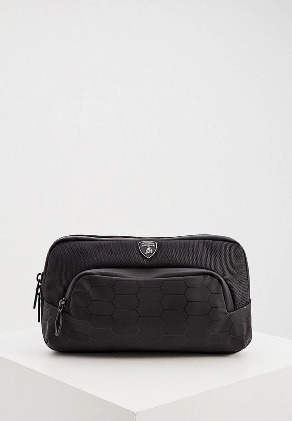 мужская поясные сумка automobili lamborghini, черная