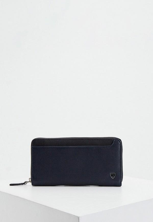 мужской кошелёк automobili lamborghini, синий