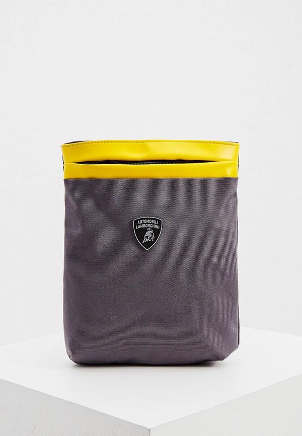 мужская сумка automobili lamborghini, серая