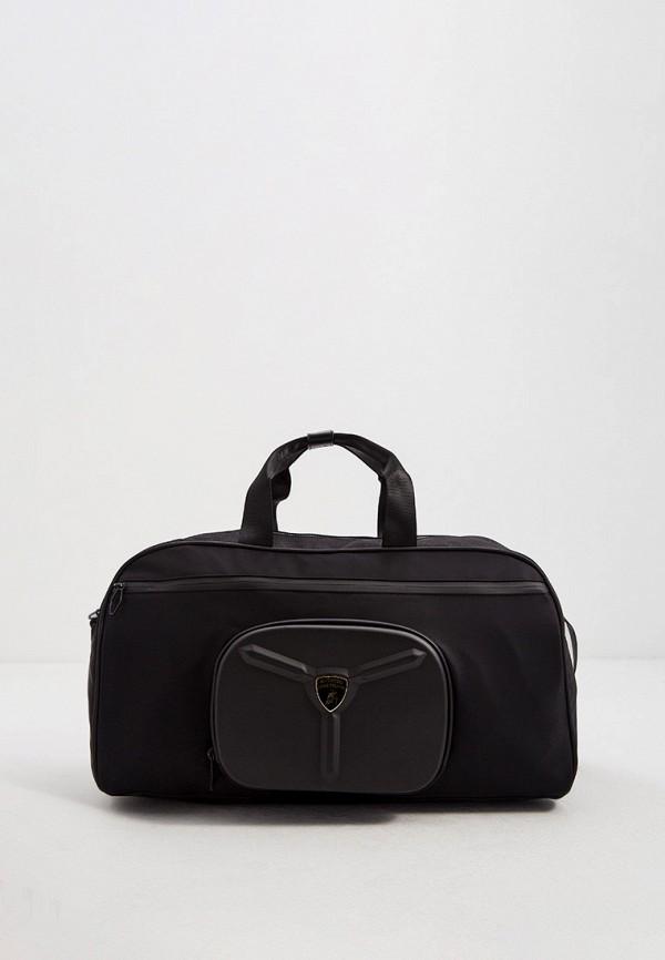 мужская дорожные сумка automobili lamborghini, черная