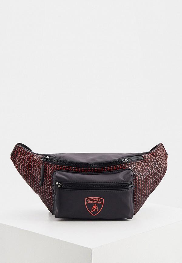 мужская сумка automobili lamborghini, красная
