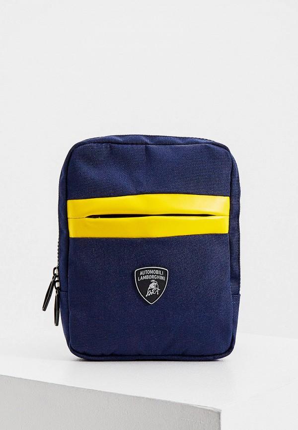 мужская сумка automobili lamborghini, синяя