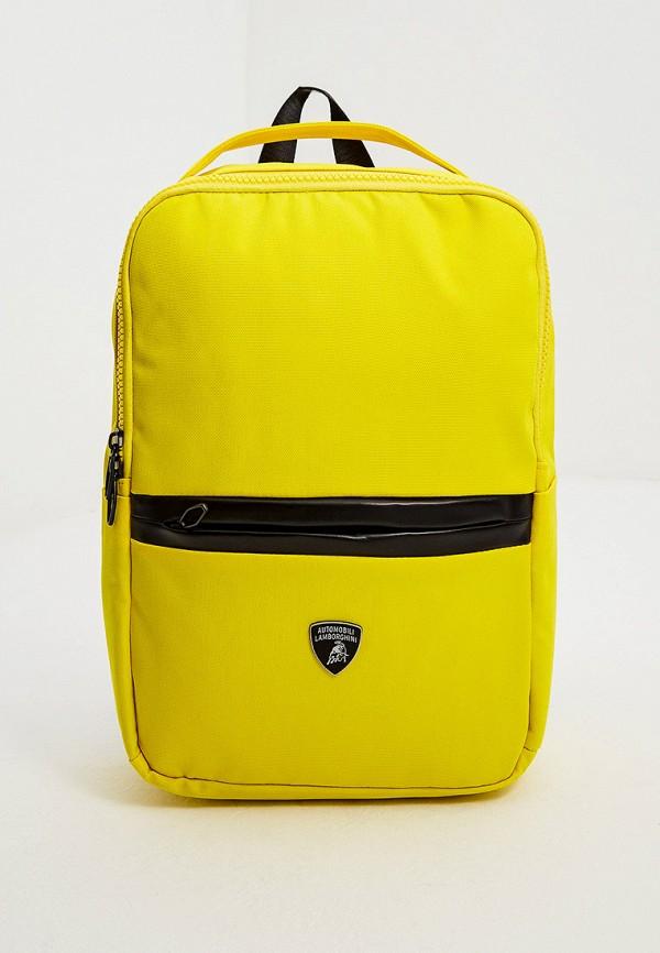 мужской рюкзак automobili lamborghini, желтый