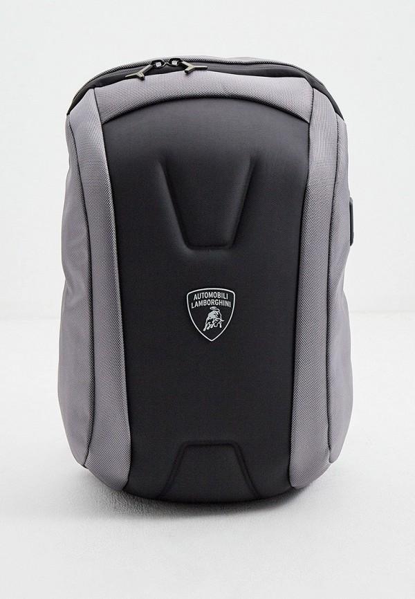 мужской рюкзак automobili lamborghini, серый
