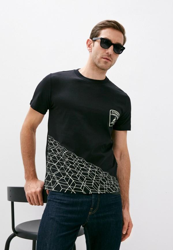 мужская футболка automobili lamborghini, черная