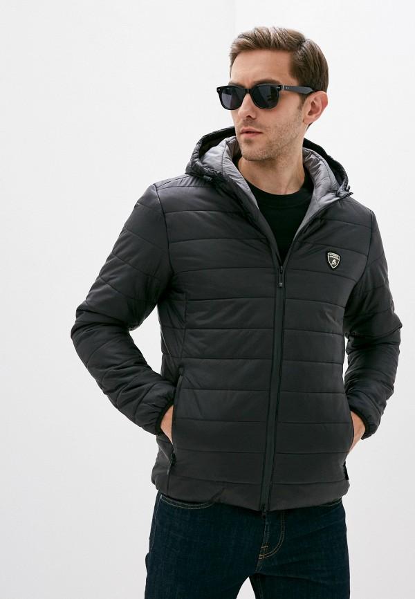 мужская куртка automobili lamborghini, черная