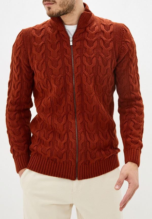 мужской кардиган auden cavill, коричневый