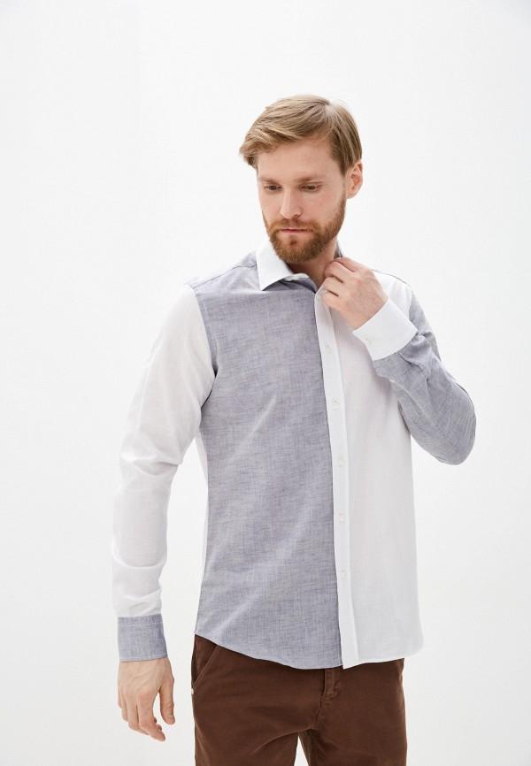 мужская рубашка с длинным рукавом auden cavill, белая