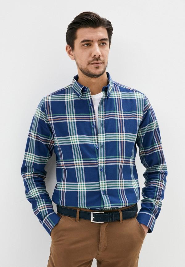 мужская рубашка с длинным рукавом auden cavill, синяя