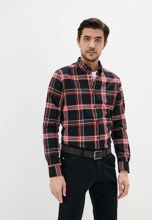 мужская рубашка с длинным рукавом auden cavill, черная