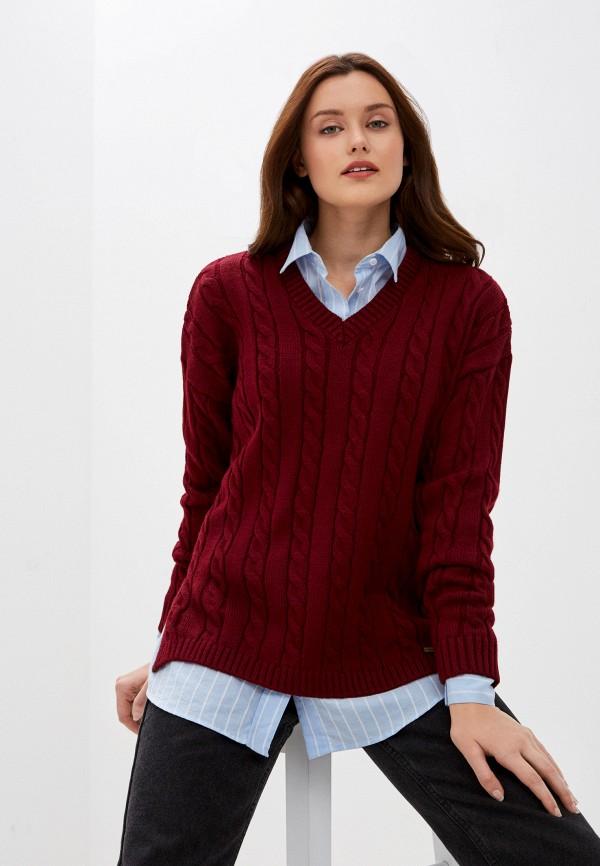 женский пуловер auden cavill, бордовый