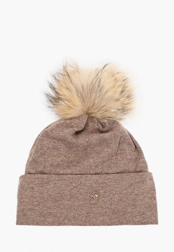 женская шапка avanta, коричневая