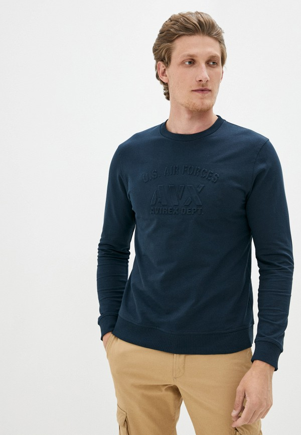 мужской свитшот avirex, синий