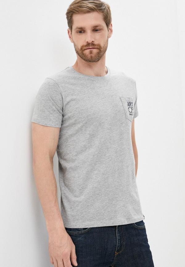 мужская футболка с коротким рукавом avirex, серая