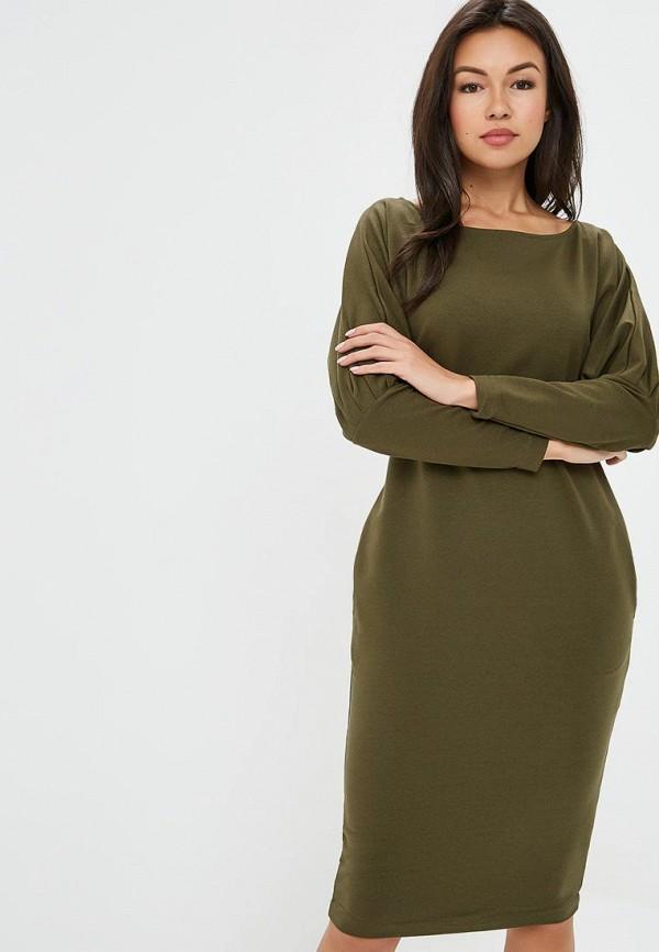 Купить Платье Awama, Awama AW003EWCJCR9, хаки, Осень-зима 2018/2019
