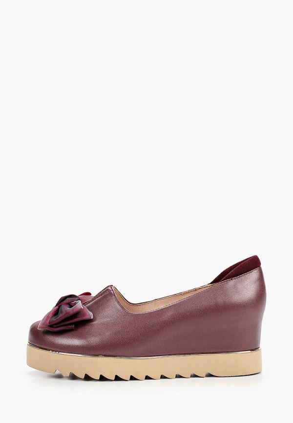 женские туфли balex, бордовые