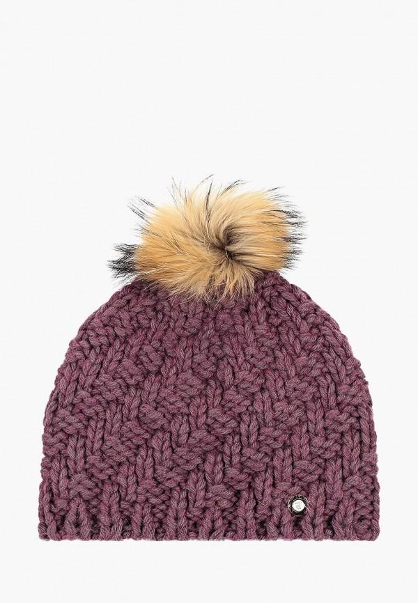женская шапка baon, бордовая