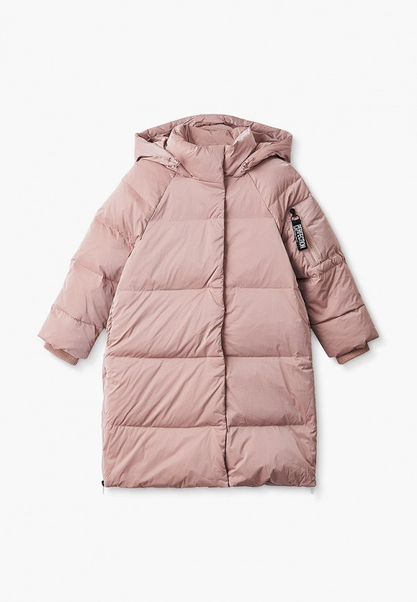 пуховик baon для девочки, розовый