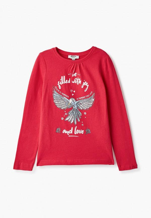 лонгслив baon для девочки, красный