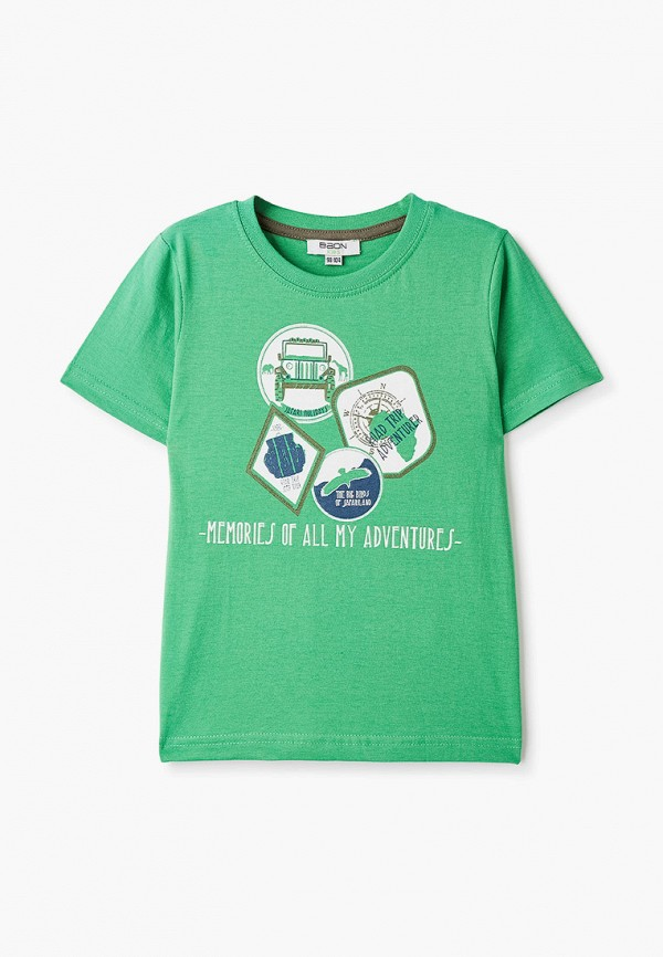 футболка с коротким рукавом baon малыши, зеленая