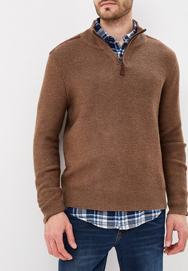 мужской свитер baon, коричневый