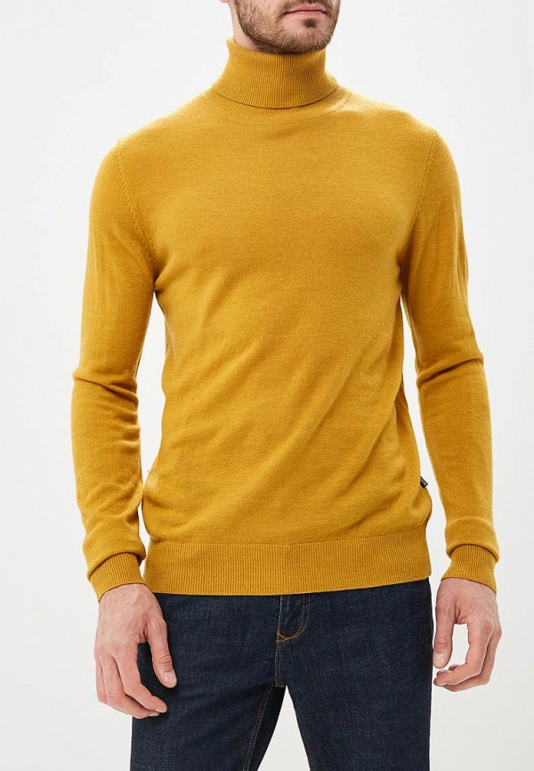 мужская водолазка baon, желтая