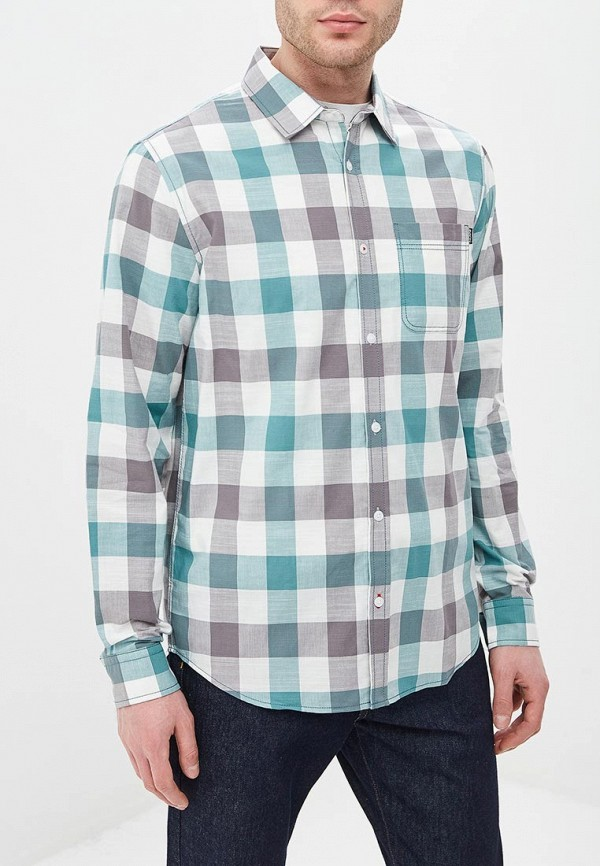мужская рубашка с длинным рукавом baon, бирюзовая