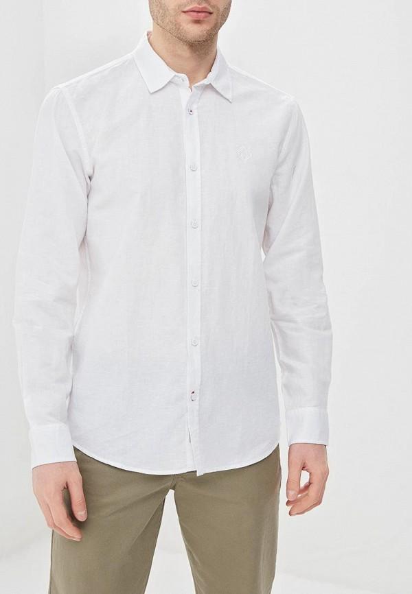 мужская рубашка с длинным рукавом baon, белая