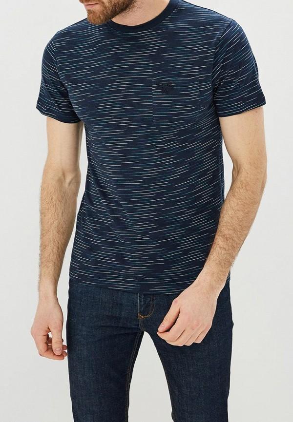 мужская футболка с коротким рукавом baon, синяя