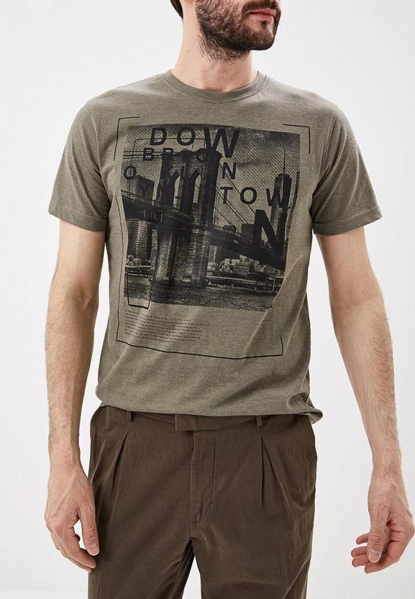мужская футболка с коротким рукавом baon, хаки