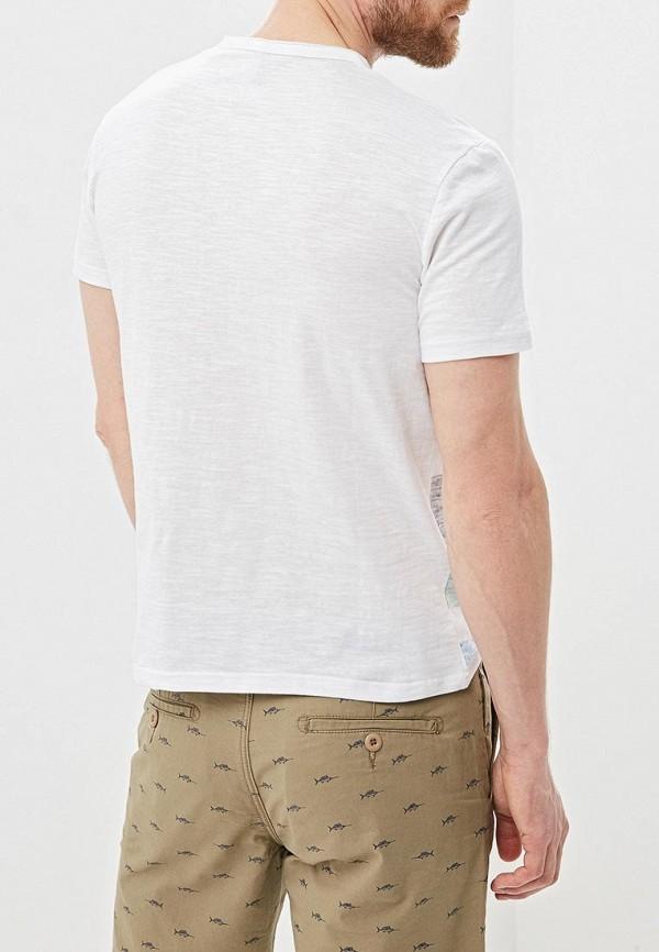 Фото 3 - мужскую футболку Baon белого цвета