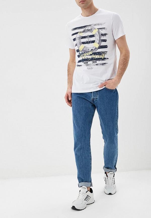 Фото 2 - мужскую футболку Baon белого цвета