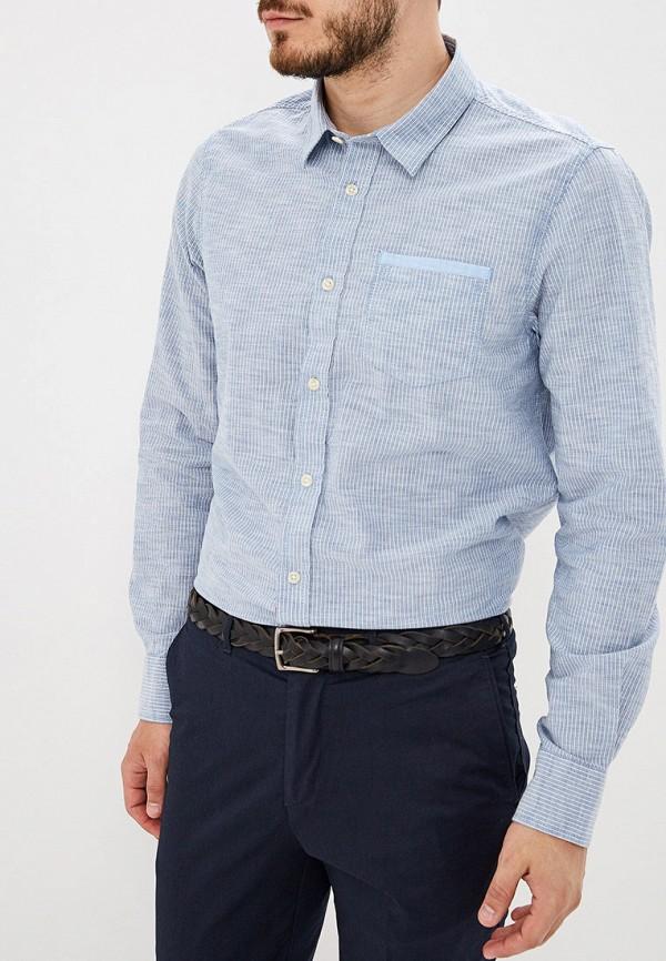 мужская рубашка с длинным рукавом baon, голубая