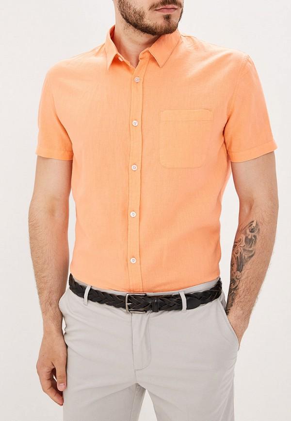 мужская рубашка с коротким рукавом baon, оранжевая