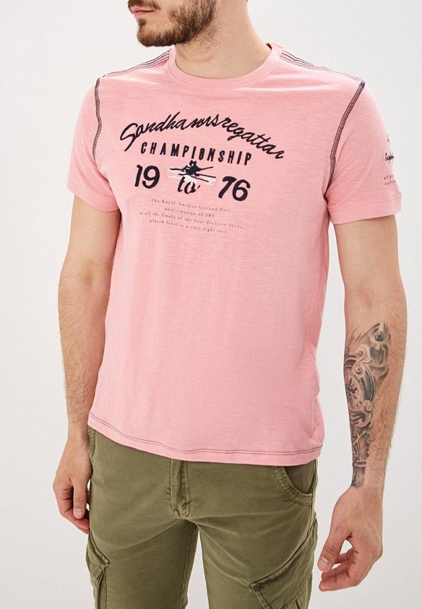 мужская футболка с коротким рукавом baon, розовая