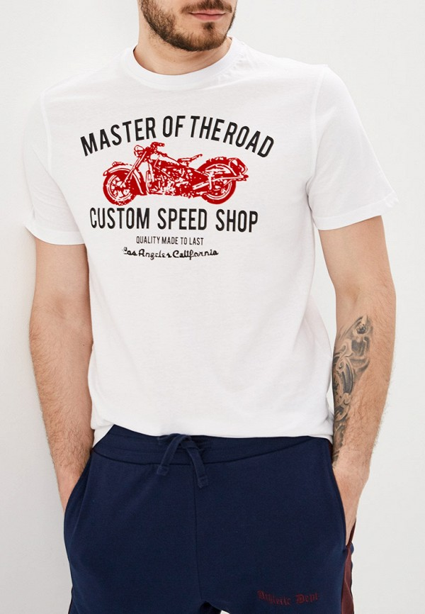 мужская футболка с коротким рукавом baon, белая
