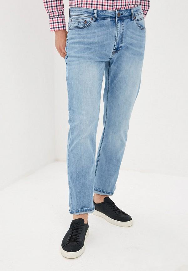 мужские зауженные джинсы baon, голубые