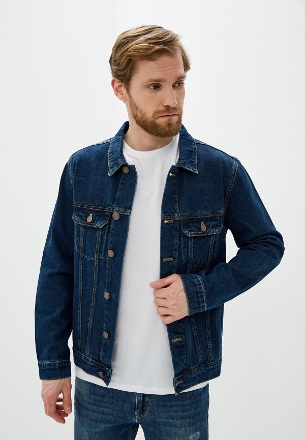 мужская джинсовые куртка baon, синяя